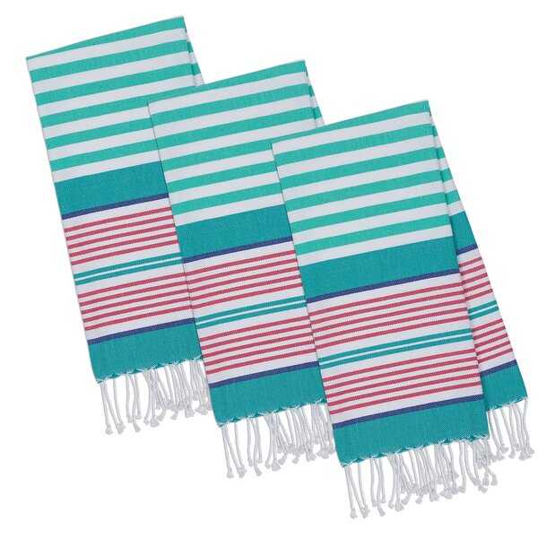 Beachy Keen 100% Cotton Hand Towel (Set of 3) by Design Imports